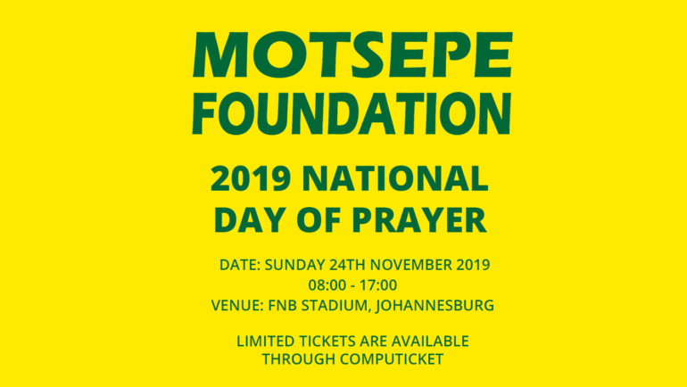 Motsepe Foundation and Religious and Faith-Based Organisations 2019 National Day of Prayer for all South Africans